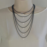14K Real White Gold Braided Square Wheat Chain Necklace 0.7mm Width for Children & Women