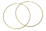 "14K Real Yellow Gold 1mm Thickness Extra Large Diamond Cut Endless Hoop Earrings 80mm ( 3 1/8"" )"