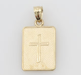 "14K Real Yellow Gold Religious ""Mi Primera Comunion"" Small Charm Pendant"