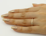 14K Real Yellow Gold Round Cut Channel Set Eternity Endless Wedding Anniversary Ring Band Light Weight Stackable