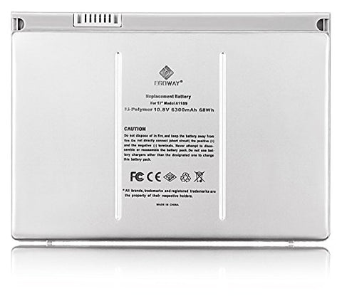 "Egoway Replacement Battery for Apple Macbook Pro 17"" A1189 A1151 A1212 A1229 A1261 (Aluminum Body as Original)"