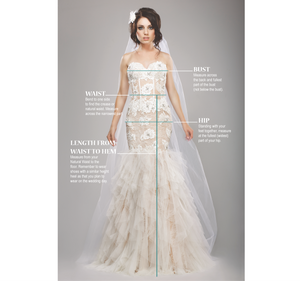How to take measurements for ordering your wedding gown online
