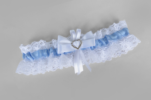 Bow Detailed Heart Garter