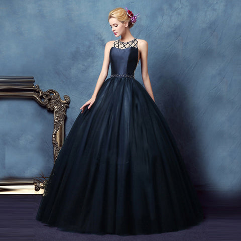 Dark Navy Ball Gown
