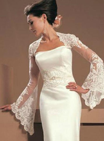Bell Sleeved Lace Bridal Bolero