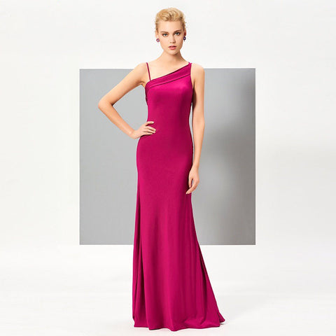 Spaghetti Strap Backless Evening Dress