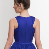 A-line Chiffon Royal Blue Evening Gown