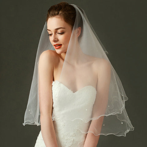 Double layered Wedding Veil