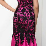 Sweetheart Sleeveless Hot Pink Gown