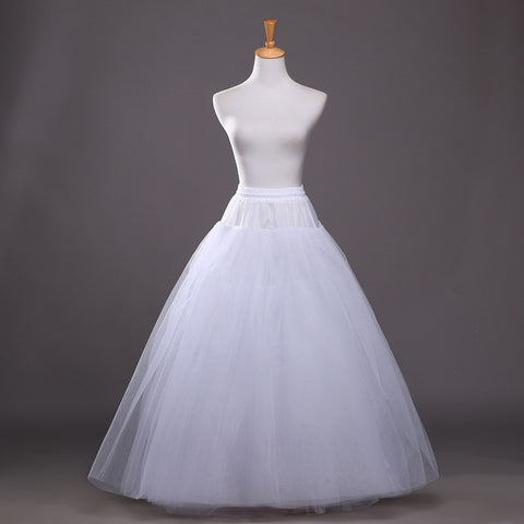 6 layered Bridal Petticoat with no hoops.