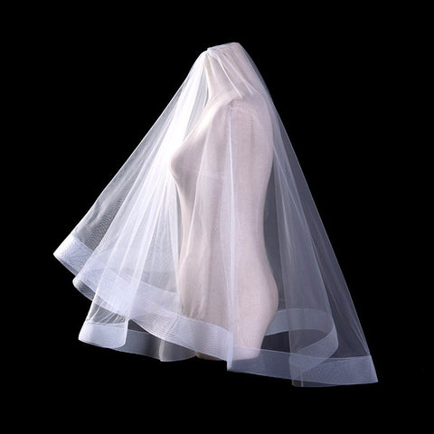 Mid Length One Layer Tulle Bridal Veil