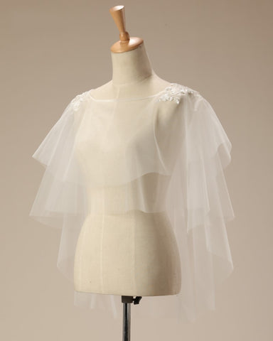 Soft Tulle Bridal Poncho Jacket