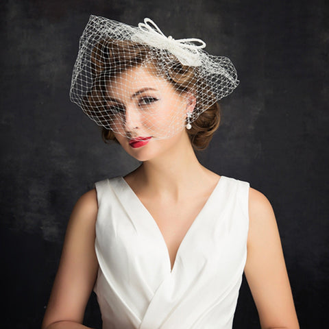 Simple Bride Fascinator / Birdcage Veil