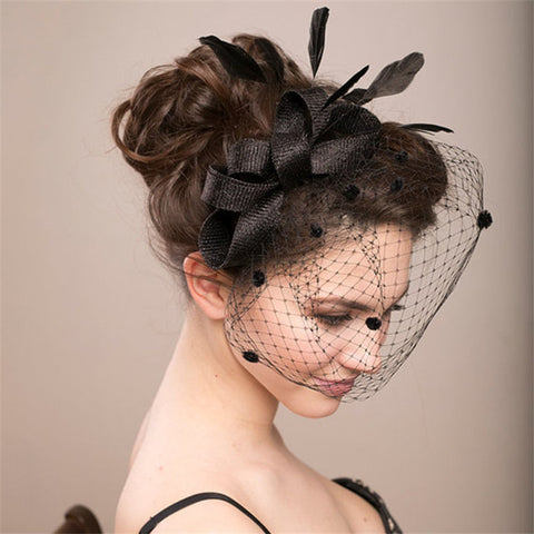 Birdcage Veil in Black or Ivory