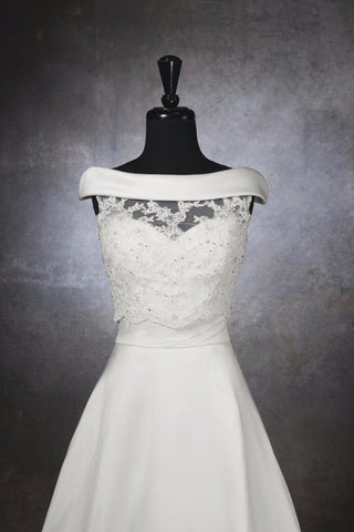 Betaeu Lace Applique Wedding Bolero