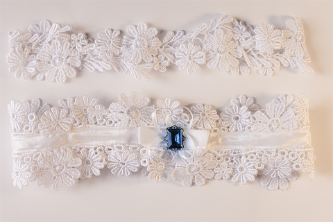 Royal Crystal Vintage Garter Set