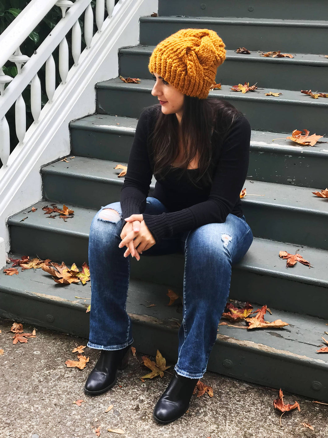 Big Braid Wool Blend Beanie Hat | Hat Toque with Faux Fur Pom Pom | Cable Knit Beanie