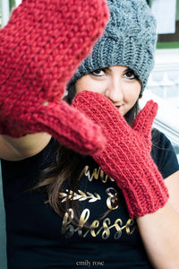 Knit Mitten Gloves | Knit Adult Mittens | Knit Mittens | Womans Gloves | Mens Mittens