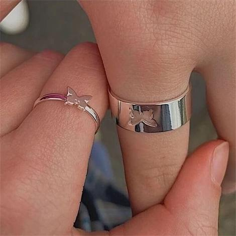 Butterfly rings for couples