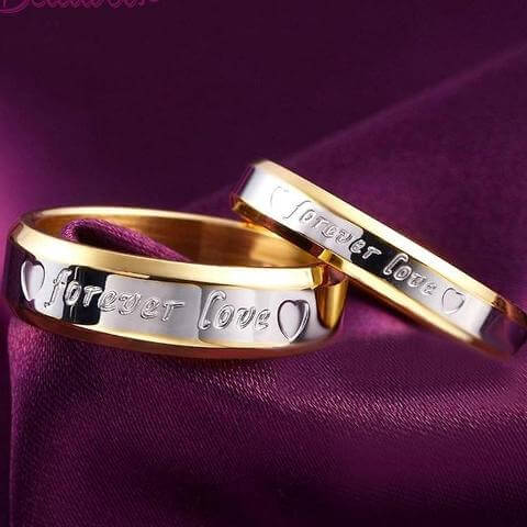 couples promise ring set