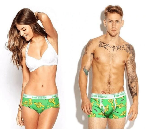 best matching couple underwear set