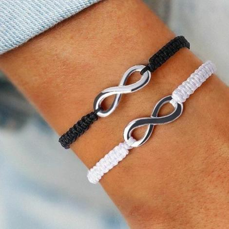 Infinity bracelets for couples