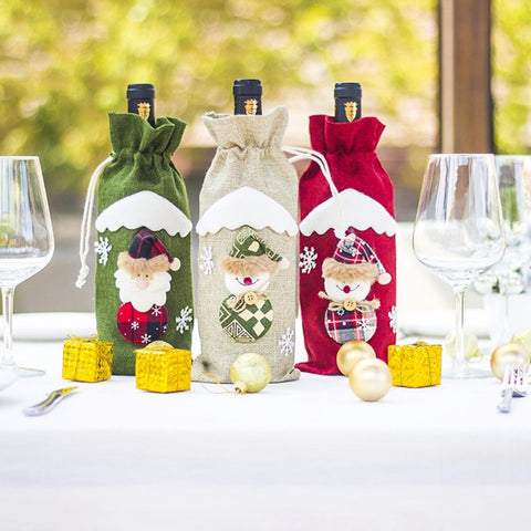 fancy christmas wine bags