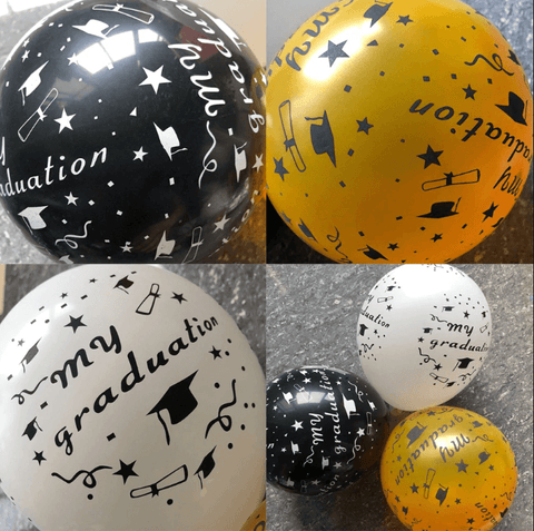 Graduation Party Decorations Printed Latex Balloons 12 inches (20pcs)