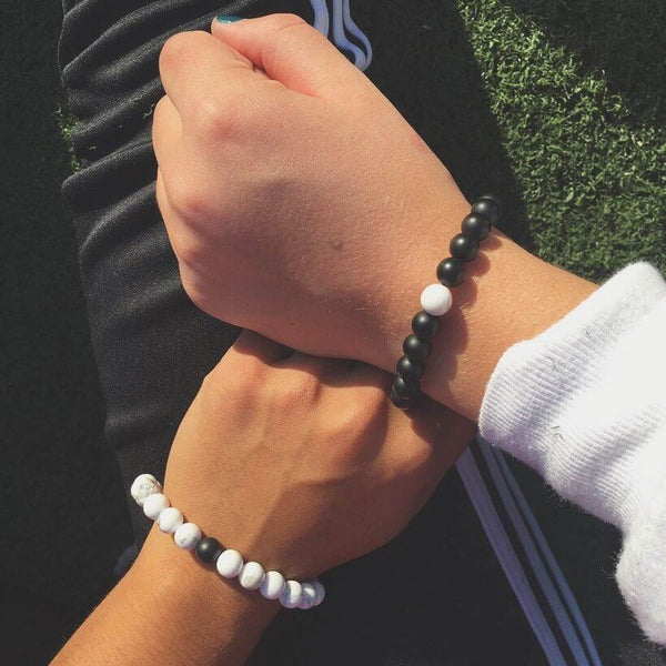Long Distance Relationship Bracelets for Couples [Set of 2] - BigBeryl