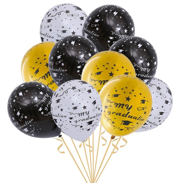 Graduation Party Decorations Printed Latex Balloons 12 inches (20pcs) - BigBeryl