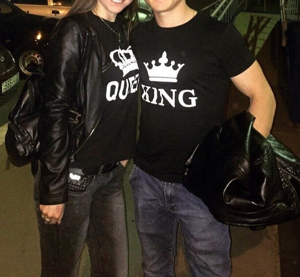 King Queen Matching Couple Shirts - BigBeryl