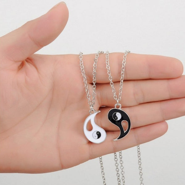 Yin and Yang Couple Pendant Necklace [Set of 2] - BigBeryl