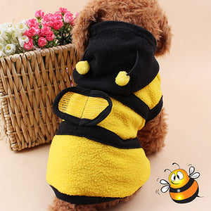 Cute Bee Cat & Dog Hoodie | Funny Pet Clothes - BigBeryl