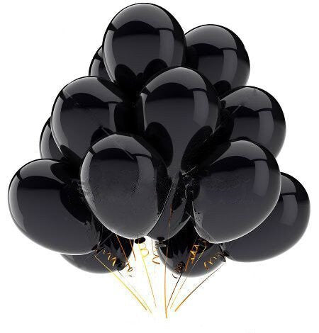 Black and Gold Balloons Decorations 30 Pcs/Set