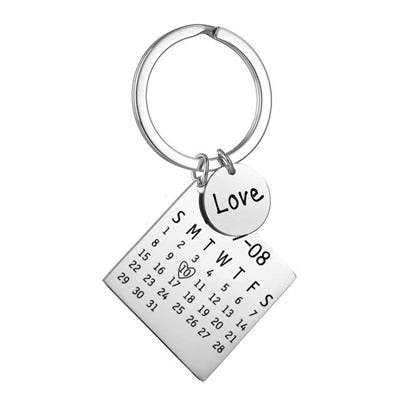Personalized Photo Keychain with Calendar