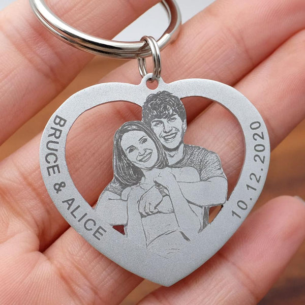 Custom Photo Keychain with Gift Box