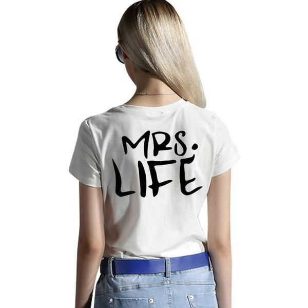 Mr Good Mrs Life Shirts | Funny Boyfriend and Girlfriend Shirts - BigBeryl