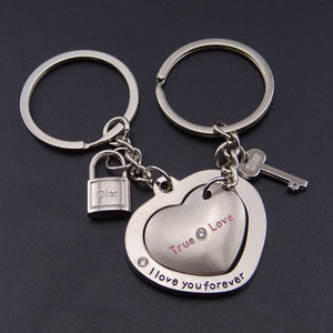 Key To My Heart Keychain For Couples - BigBeryl