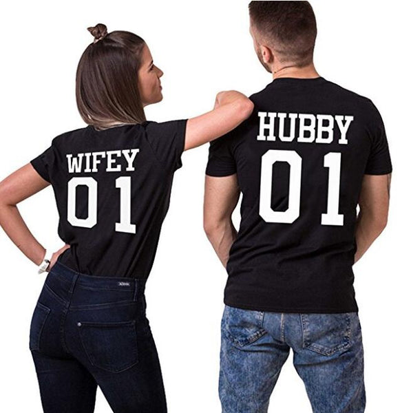Hubby and Wifey Matching Shirts for Couples - BigBeryl