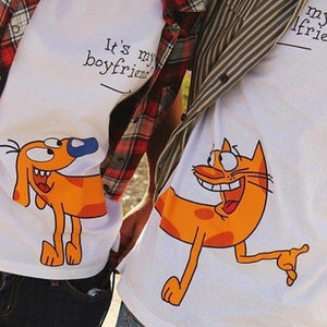 Matching Boyfriend Girlfriend T-Shirts - BigBeryl