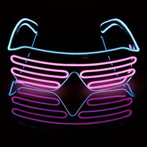 Glow In The Dark Party LED Glasses - BigBeryl