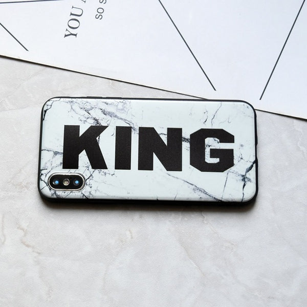 King and Queen Matching Couple iPhone Cases - BigBeryl
