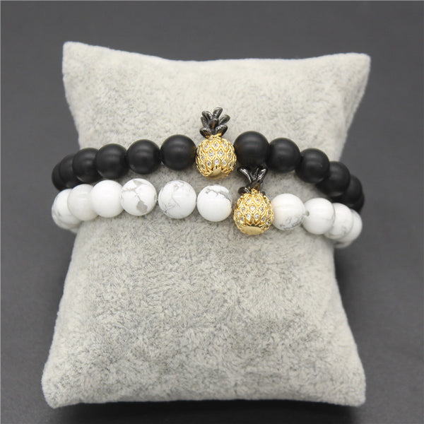 Matching Pineapple Beaded His And Hers Bracelet [4 variants] - BigBeryl