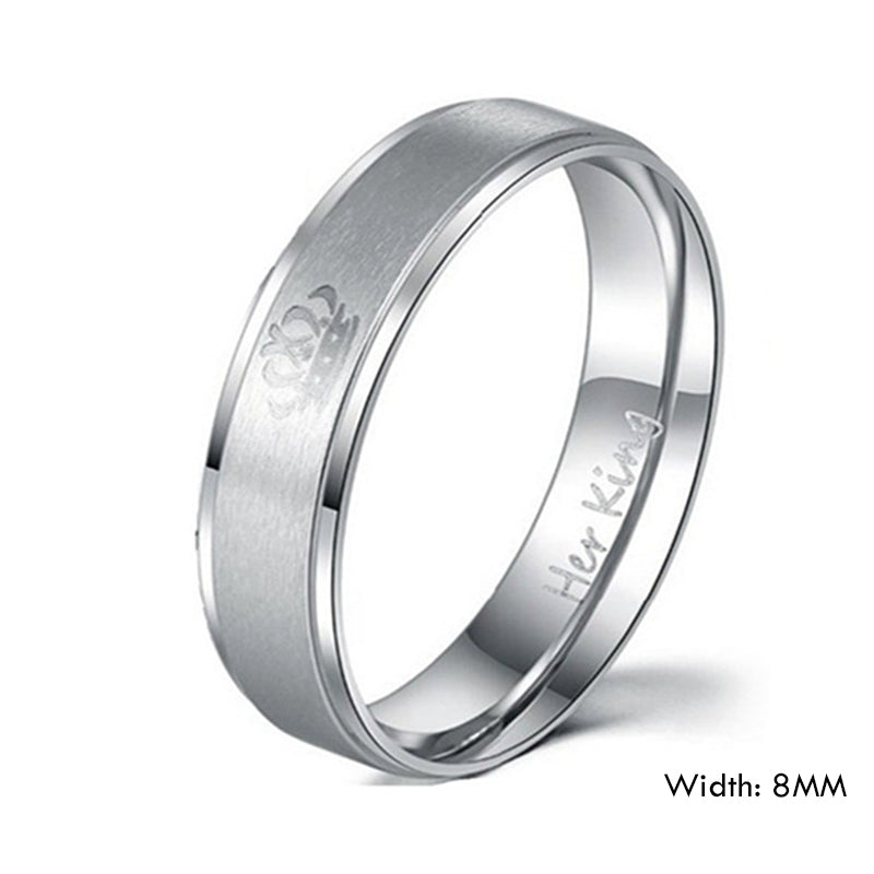 Black King And Queen Crown Couple Rings Bigberyl