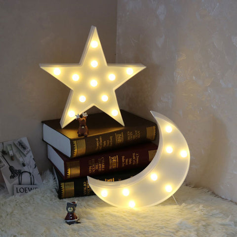 Star Marquee Light | 3D Night Lights - BigBeryl