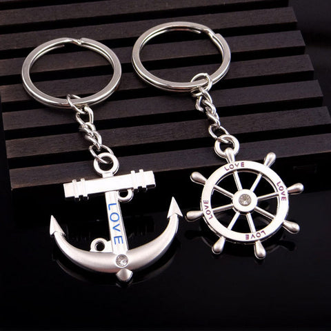 Ship Wheel and Anchor Keychain - BigBeryl