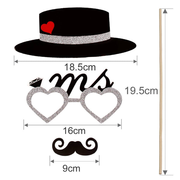 Wedding Photo Booth Props - 54 Pcs - BigBeryl