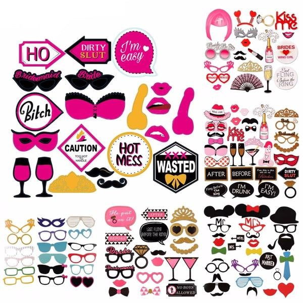 Bachelorette Party Decorations Photo Booth Props - BigBeryl