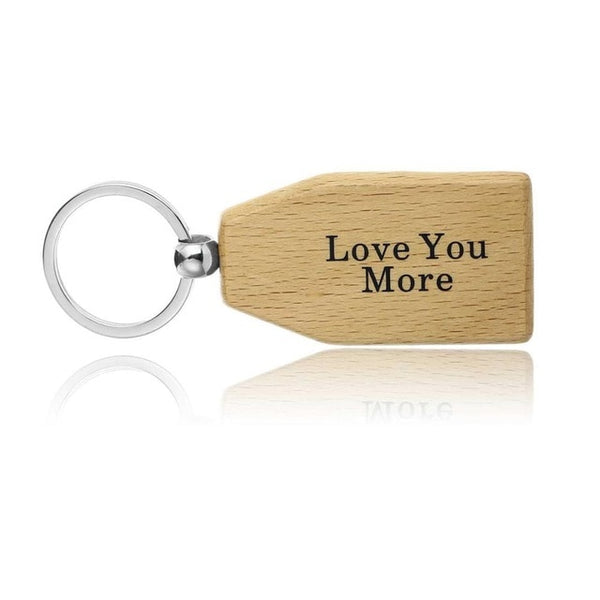 Family Presents Wooden Keychains - BigBeryl