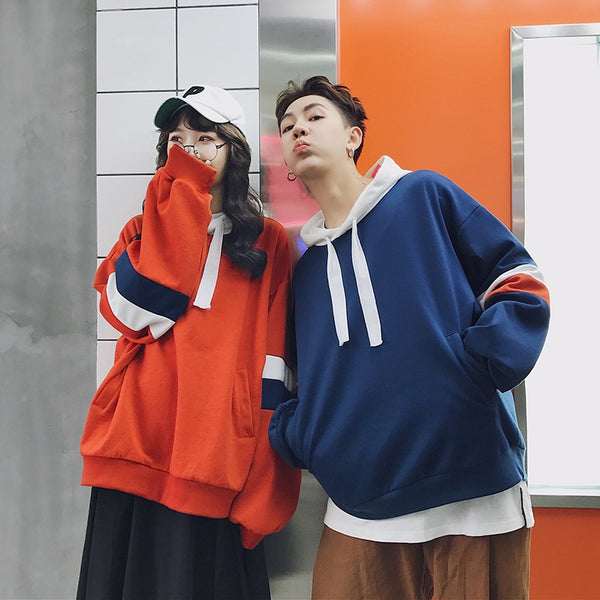 Oversized Matching Couple Hoodies | Swag Outfits For Couples - BigBeryl